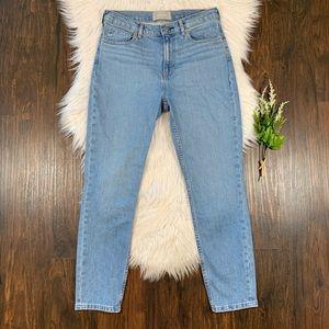 Everlane High Rise Skinny Jeans Light Blue Wash 29
